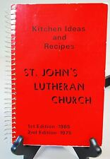 Vintage 1975 Cookbook - St. John's Lutheran Church - Minneapolis, MN
