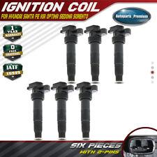 6PCS Ignition Coils for Hyundai Sonata Santa Fe Kia Sorento Sedona V6 3.3L 3.8L