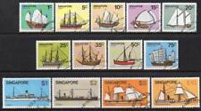 Singapour utilisé/CTO 1980 Navires Definitives Set