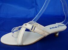 EPOX CREAM LEATHER KITTEN HEEL LEATHER LINED CASUAL SANDALS WOMENS UK 3 - EU 36