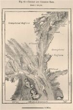 Chilkat and Chilkoot Bays. Alaska 1885 old antique vintage map plan chart