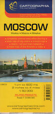 Moscow Folded Street Map Cartographia, 9789633528037