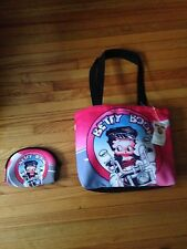 Betty Boop-Tote/Purse & Cosmetic/Coin Bag-Biker Betty-New with tag-COLLECTIBLE