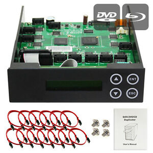 1-9-10-11 Blu-ray CD/DVD/BD SATA Duplicator Copier CONTROLLER+Cables & Screws