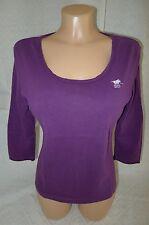 POLO SYLT Shirt Oberteil M 40 38 Lila 100% Baumwolle Cotton 3/4 Arm sportlich !!