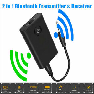 Bluetooth 5.0 Transmitter and Receiver 2-in-1 Wireless Audio Aux 3.5mm Adapter