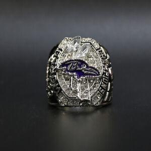 Joe Flacco - 2012 Baltimore Ravens Super Bowl Championship Ring WITH Wooden Box