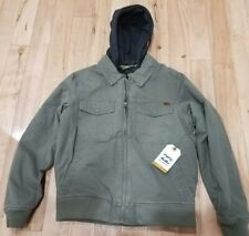 BILLABONG BARLOW TWILL JACKET LIGHT MILITARY MENS COAT SURFPLUS SIZE SMALL NWT