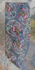 mens Secours silk neck tie plant goddess medallions