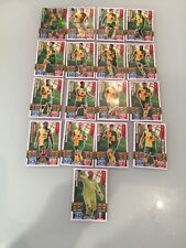 Norwich City FC 2016 Topps Match Attax Cards Set Of 17