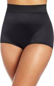 Rago Shapewear Light Shaping Hi-Waist Black Panty Brief Plus Size 46/8XL