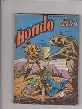 Davy Crockett HONDO n°7 - février 1957. Editions LUG. Bon état