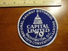 NATIONAL RAILWAY HISTORICAL  SOCIETY WASHIINGTON  DC  RAILROAD TRAIN    BX L 101