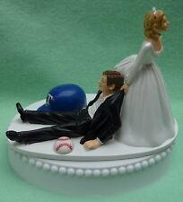 Wedding Cake Topper Texas Rangers Funny TX Baseball Theme Sports Fan Bride Groom