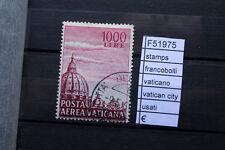 FRANCOBOLLI STAMPS VATICANO VATICAN CITY USATI (F51975)