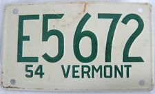 WHEATIES MINI LICENSE PLATE (TAG) VERMONT 1954 5' X 2' approx. original