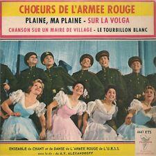 EP FOLKLORE 4 TITRES--CHOEURS DE L'ARMEE ROUGE--SUR LA VOLGA