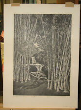 """Alan Crane Signed Lithograph """"Bamboo Grove"""" Listed Rockport Artist"""