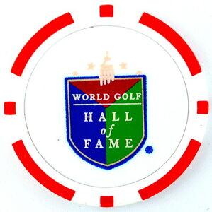 WORLD GOLF HALL OF FAME (Red) POKER CHIP Golf BALL MARKER