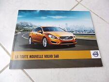 Volvo S60 2011 74 pages catalogue brochure dépliant prospekt catalog commerciale