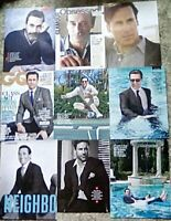 * Jon Hamm - Good Omens Mad Men - Clippings Pack 30 Full Pages ( 2013 - 2018 ) *