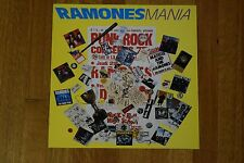 """Ramones Mania 1988 Record Store Promo Two-Sided Album Flat Art Poster Sire 12.5"""""""