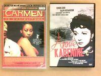 LOT 2 DVD / CARMEN + ANNA KARENINE / NEUF ET TRES BON ETAT