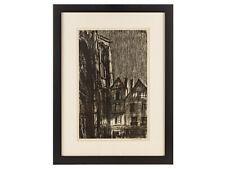 More details for sir muirhead bone wwi artist's proof military lithograph rouen cathedral