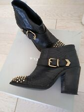 Black Leather Ankle Boots - Carvela - Size 5
