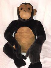 """EUC-HTF-RARE-25"""" Melissa and & Doug Monkey Large Giant Plush Chimp Ape"""