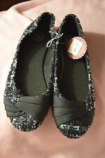 NEW Size 7.5 Sonoma SO Final Black with Multicolored Flat Slip on Shoes $39.99