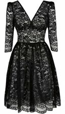 Pearl Lowe Size 12 Lace Dress 50s Party Cocktail Mother of Bride Wedding ~ US 8