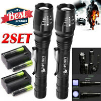 900000Lumens Tactical 5Modes T6 Zoomable Focus 18650 LED Flashlight Torch Light-