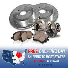 Rear Brake Rotors and Hub Bearings Ceramic Pads PT CRUISER HO TURBO GT NEON SRT4