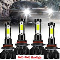 For Chevy Suburban 2000-2006 Tahoe 2001-06 4x 9005+9006 LED Headlight Bulbs Kit