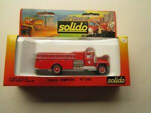 BOXED VINTAGE SOLIDO TONER GAM II, MACK POMPIERS RED, 3106