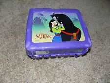 Vintage Plastic Lunch box With Thermos Mulan