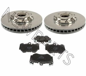 For Porsche Cayenne Set of Front Left & Right Vented Brake Rotors+Pads OEM