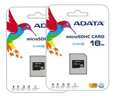 Menge 2 A-Data 16 GB CLASS 4 MicroSDHC TF Micro SD Speicherkarte für Galaxy Note