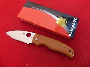 Spyderco Shaman Sprint Burnt Orange G10 CPM REX 45 Compression Lock C229GPBORE