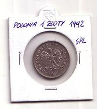Polonia Polska   1 zloty 1992     SPL    (m105)