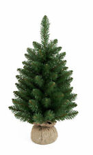 60cm Table Top Christmas Tree with Burlap hessian Base Artificial Decoration