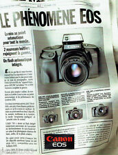PUBLICITE ADVERTISING 046  1988  Canon  appareil photo Eos 750