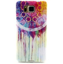 Samsung Galaxy Alpha G850 - TPU RUBBER SKIN CASE COVER PINK PURPLE DREAMCATCHER