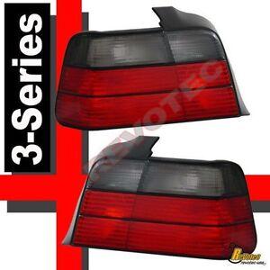 1992-1998 BMW 3-Series E36 4Dr Sedan 318i 323i 325i Red Smoke Tail Lights 1 Pair