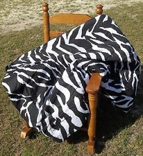 Black & White Zebra Print Seven Piece Crib Set