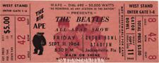 1  BEATLES VINTAGE UNUSED FULL CONCERT TICKET 1964 Jacksonville FL org laminated
