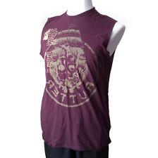 "Buffalo Men Size M T-Shirt Sleeveless Burgundy Model NIPAD Graphic ""RUTTER"""