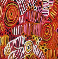 "PRINT ON CANVAS aboriginal art painting jane crawford grub dreaming 39"" x 39"""