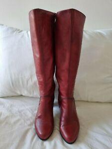 Hispanitas Red Knee-high Boots